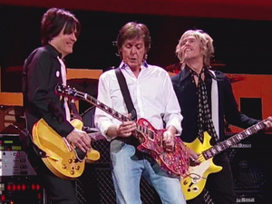 12-12-12 The Concert for Sandy Relief at Madison Square Garden, New York: Sir Paul McCartney with members of Nirvana