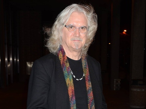 Billy Connolly outside the RTE Studios for 'The Late Late Show'.