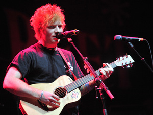 Ed Sheeran performs at the Chicago Theater in Chicago.