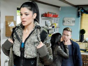 6433: Alicia struggles to see David and Priya together at Farrer's and feels worse when Priya drops the bombshell that they're off on holiday that night
