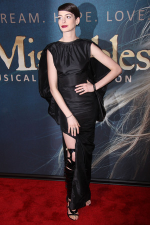 """Les Miserables"" New York Premiere -   Arrivals at the Ziegfeld Theatre Featuring: Anne Hathaway Where: New York City, United States When: 10 Dec 2012"