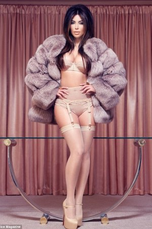 Kim Kardashian in boudoir-inspired shoot for French magazine Factice