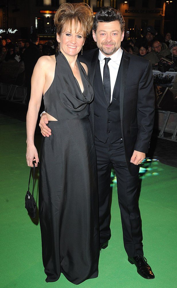 Andy Serkis with wife Lorraine Ashbourne