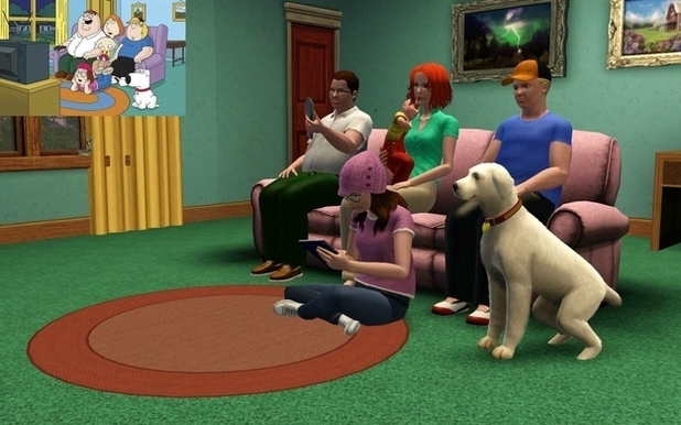 Family Guy recreated on Sims 3