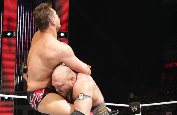Ryback at Raw with The Miz