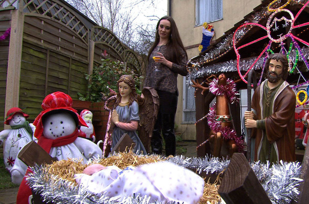 Christmas Day in Hollyoaks.