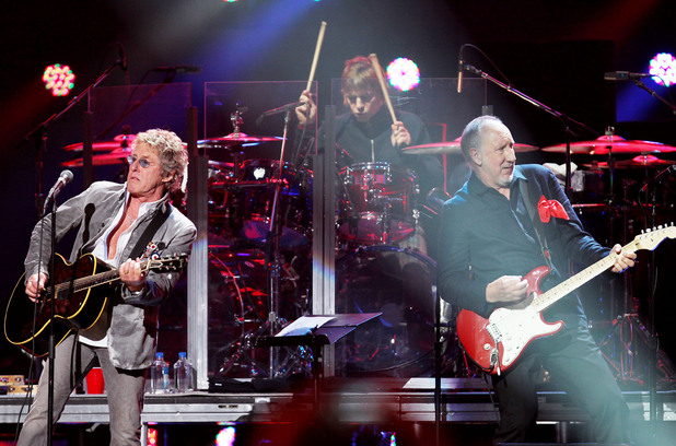 12-12-12 The Concert for Sandy Relief at Madison Square Garden, New York: Roger Daltrey and Pete Townshend of The Who
