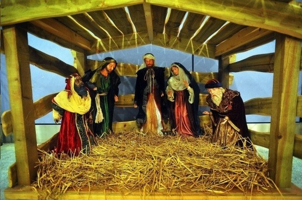 Pranksters steal Jesus from nativity scene at Manchester Airport