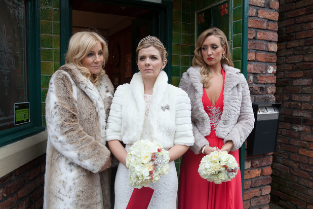 Leanne Barlow's wedding day