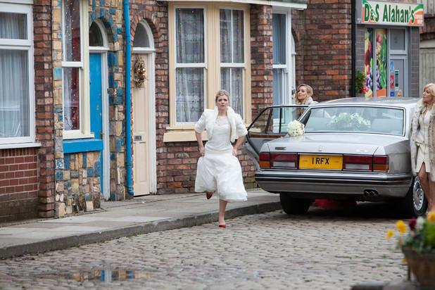Leanne Barlow's wedding day