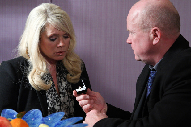 Phil surprises Sharon when he asks her to marry him - this time for real.