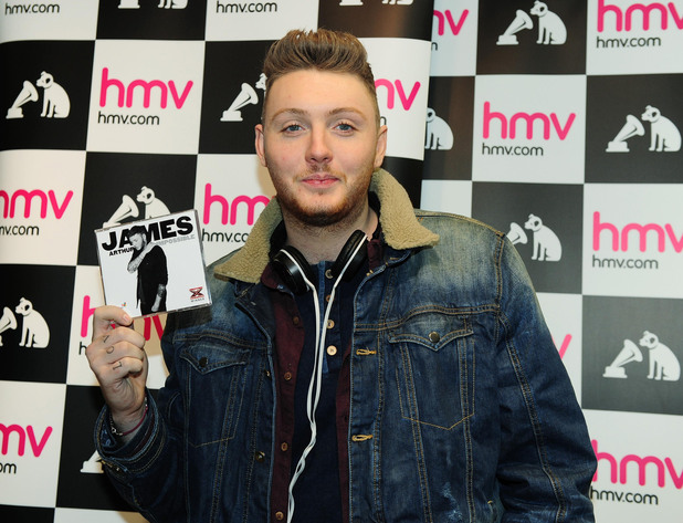 X Factor winner James Arthur arrives to sign copies of his new single Impossible in HMV at the Cleveland Centre, Middlesbrough.