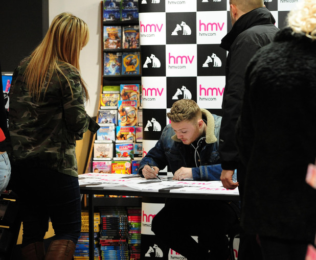 X Factor winner James Arthur arrives to sign copies of his new single Impossible in HMV at the Cleveland Centre, Middlesbrough. Picture date: Wednesday December 12, 2012.