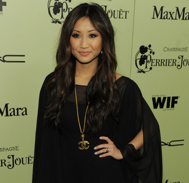 Actress Brenda Song arrives at the Fourth Annual Women in Film Pre-Oscar Cocktail Party in Beverly Hills, Calif., Friday, Feb. 25, 2011.