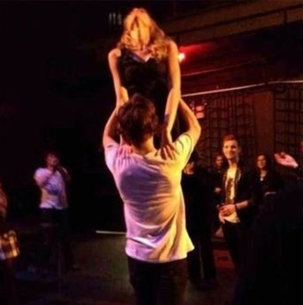 Harry Styles and Taylor Swift do the 'Dirty Dancing' lift.