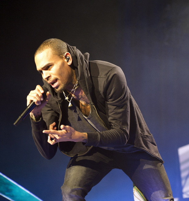 American singer Chris Brown