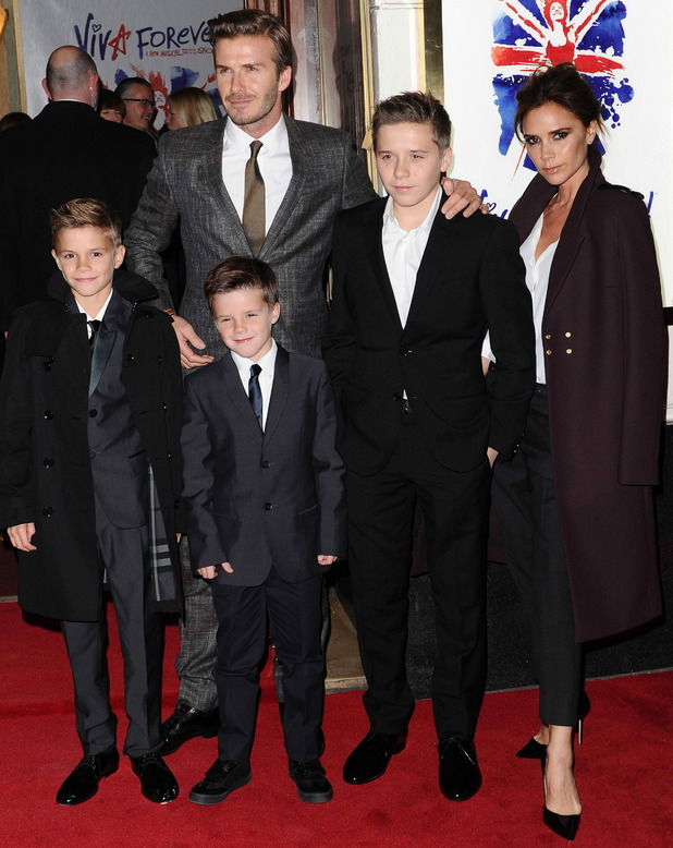 "David and Victoria Beckham at the press night of ""Viva Forever"" at Piccadilly Theatre, London, England- 11.12.12"