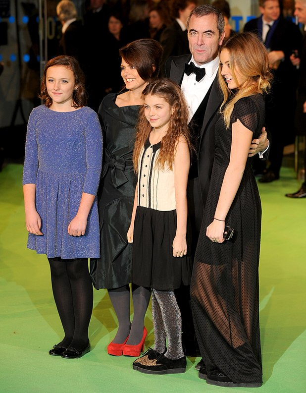 James Nesbitt and familly