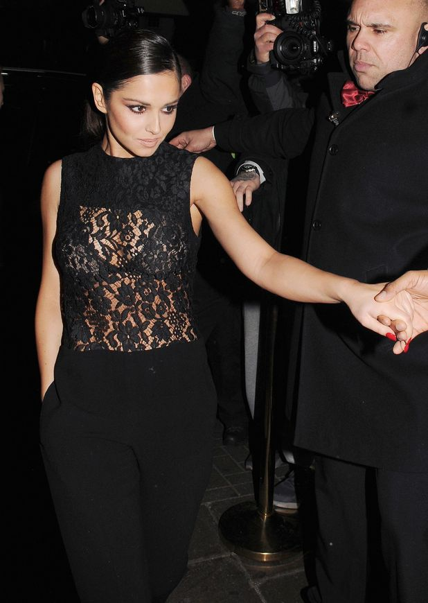 Cheryl Cole, sheer lace top, Rose nightclub