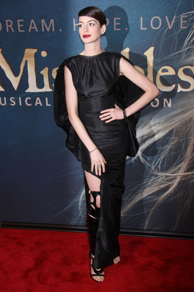 Anne Hathaway at Les Miserables premiere in NYC
