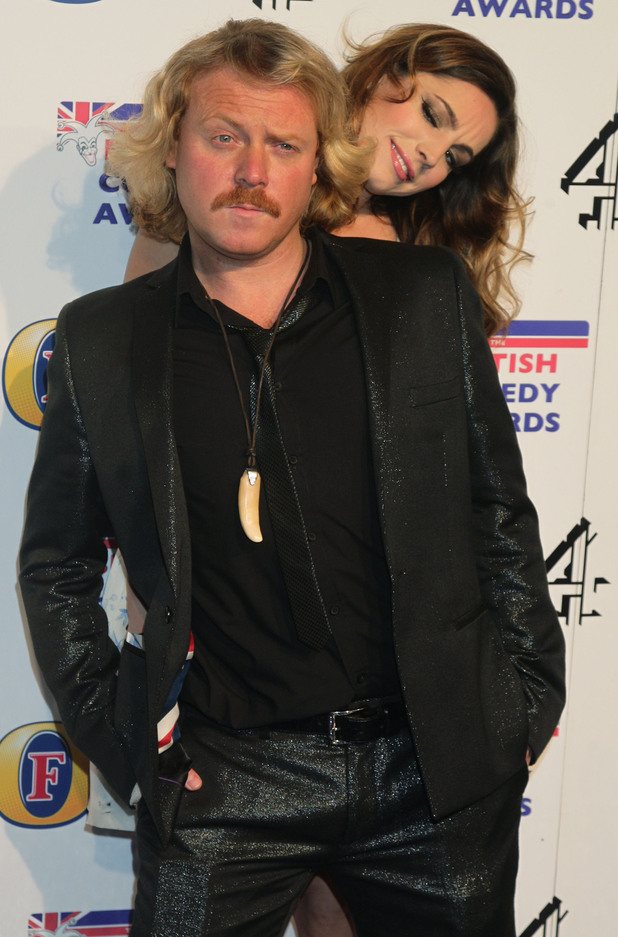 Keith Lemon and Kelly Brook arriving at the UK Comedy Awards