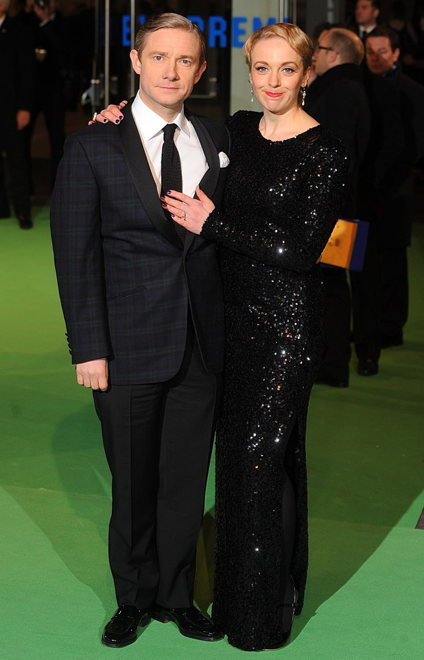 Martin Freeman and partner Amanda Abbington
