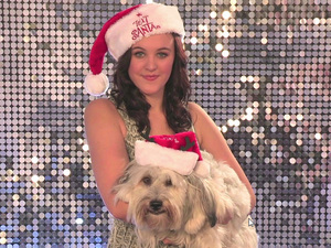 Ashleigh and Pudsey for Text Santa