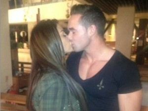 Katie Price and Scott Hayler kiss at Bluewater Shopping Centre in Kent - December 2012