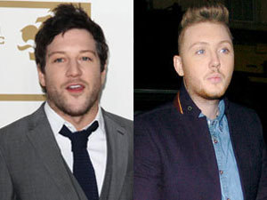 Reveal composite: Matt Cardle and James Arthur