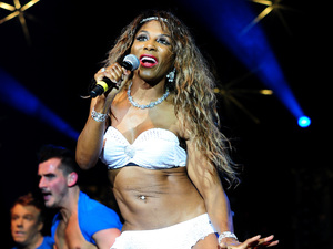 Sinitta performs during the Hit Factory Live Christmas Cracker concert, at the O2 arena in London.