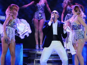 The X Factor USA Season 2 - Live finals part 2: Pitbull performs