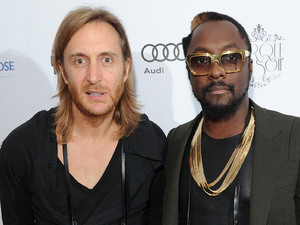 will.i.am's global launch for the i.am+ foto.sosho camera accessory for iPhone at London's One Marleybone: David Guetta and will.i.am