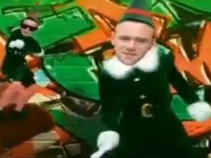 Wayne Rooney as an elf in spoof video