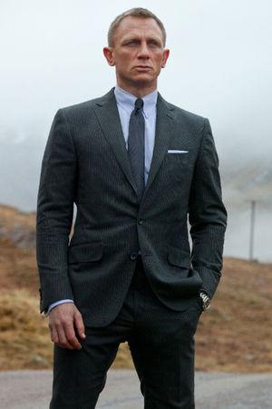 Daniel Craig as James Bond in Skyfall in 2012