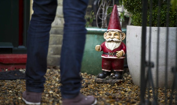 Garden gnomes that come comlpete with security camera and motion sensors