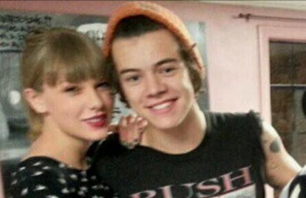 Harry Styles with Taylor Swift as he gets a new tattoo