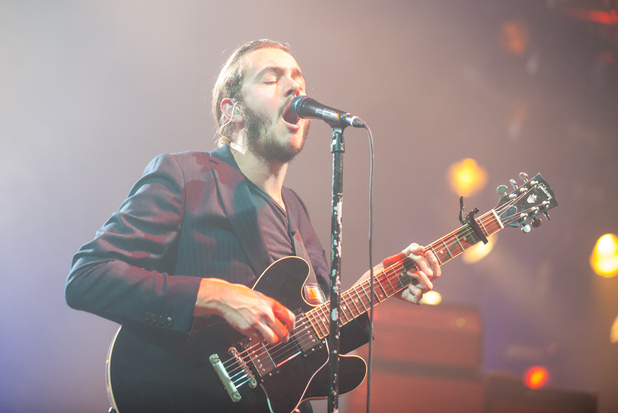 Tom Smith of the Editors performs at the XFM Winter Wonderland, at the O2 Brixton Academy, London