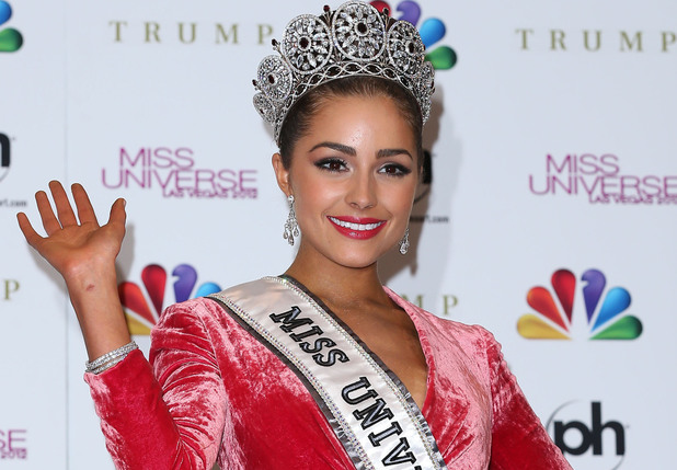Miss USA, Olivia Culpo after being crowned as Miss Universe during the Miss Universe competition