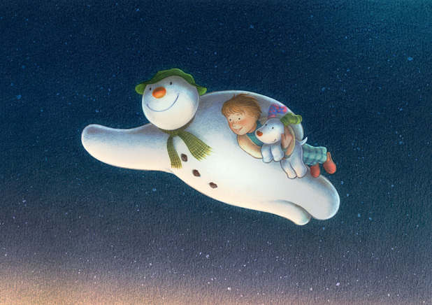 The Snowman and the Snowdog. Mon 24 Dec 2012