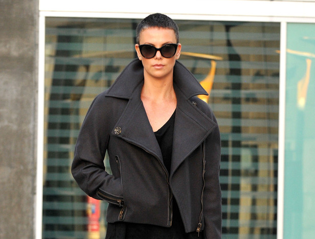 Actress Charlize Theron catches  a movie at Arclight Theater Hollywood, California - 15.12.12