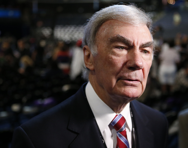 Sam Donaldson is seen on the floor at the Democratic National Convention in Charlotte, N.C., on Wednesday, Sept. 5, 2012.