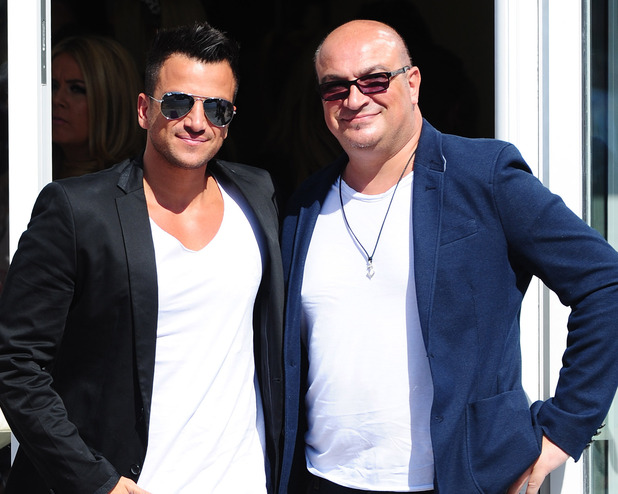 Peter Andre with his late brother Andrew, photographed in September 2012