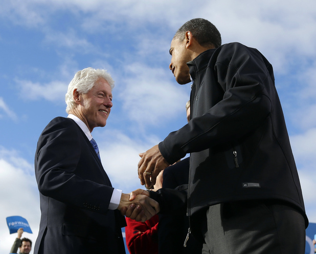 Bill Clinton with Barack Obama