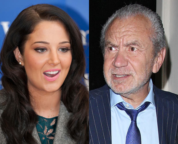 Tulisa Contostavlos and Alan Sugar