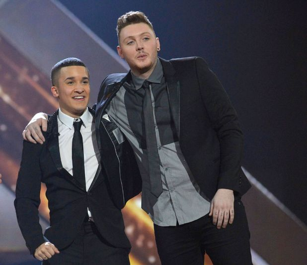 James Arthur and Jahmene Douglas at X factor final