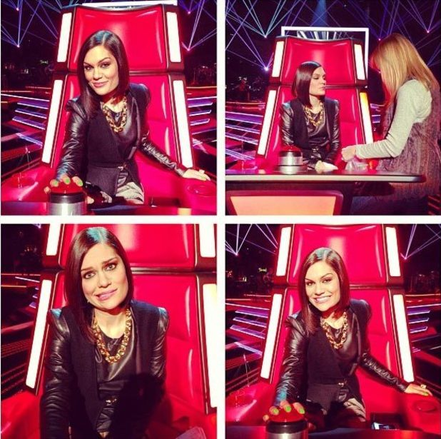 Jessie J on the set of 'The Voice' series 2