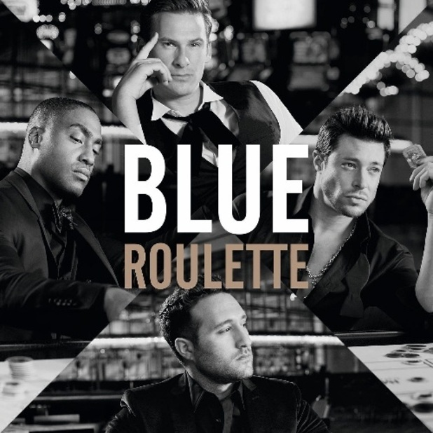 Blue &#39;Roulette&#39; album artwork.