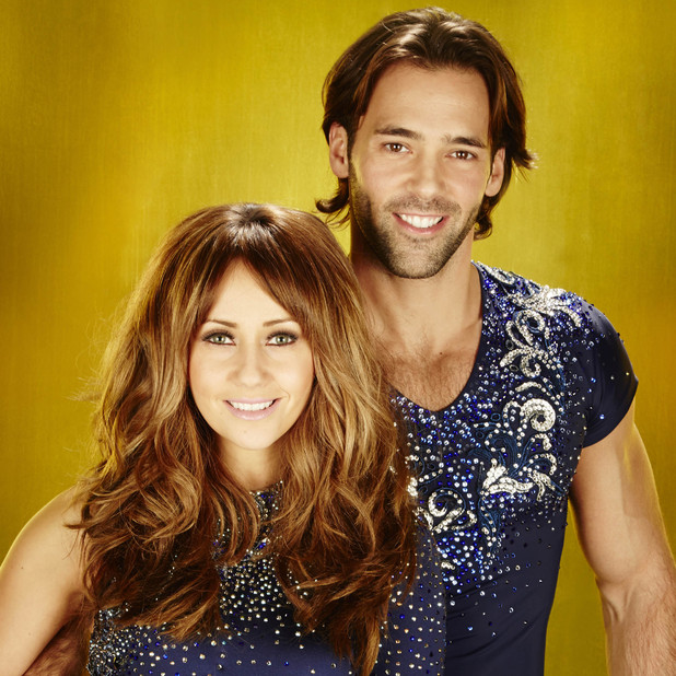 Samia Ghadie and Sylvain Longchambon on Dancing On Ice 2013