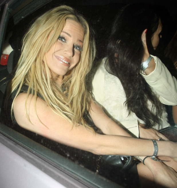 Celebrities leaving Gilgamesh restaurant in Camden Featuring: Sarah Harding Where: London, United Kingdom When: 21 Dec 2012