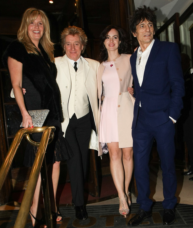 The wedding reception of Ronnie Wood and Sally Humphreys at The Ritz hotel.